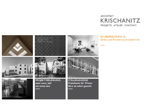 Website Krischanitz