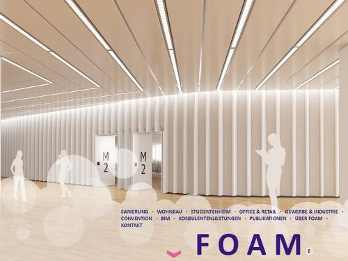 Website foam.co.at