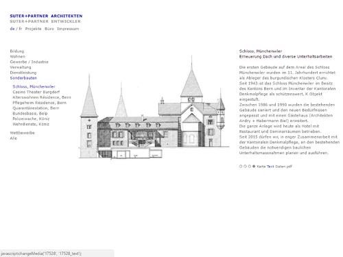 Website suterpartner.ch Architekten